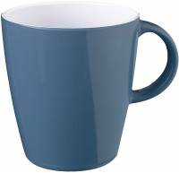 Henkelbecher Belfiore 300 ml, weiß/blau/grau
