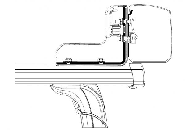 Adapter zu Wandmarkise Omnistor 3200 Roof Rack