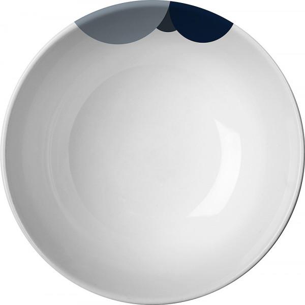 Suppenteller Camilla blau/grau