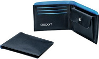 Geldbeutel Wallet with Coin Pocket schwarz/blau