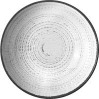 Suppenteller Tivoli weiß/schwarz