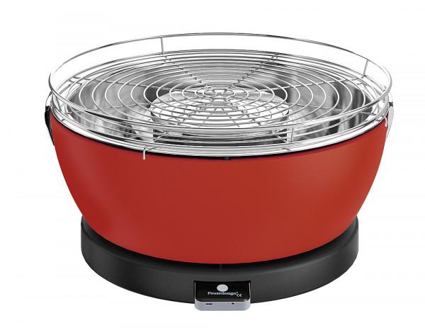 Pöytägrilli Feuerdesign Vesuvio punainen - Grillit hiili,prikettit, puristeet - 9951448 - 1