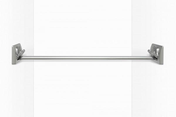 Garderobenstange für Doppelhaken, silber