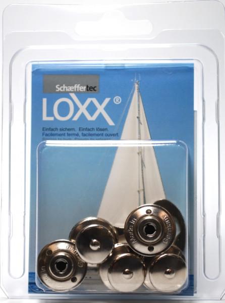 Loxx- Druckknopf Oberteil großer Kopf 5 Stück