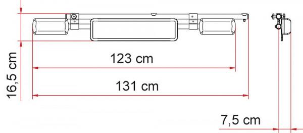Leuchtenträger License Plate Carrier, Fb. silber