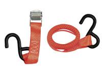 Zurrgurt mit Klemmschloss, 2,5 cm breit, orange