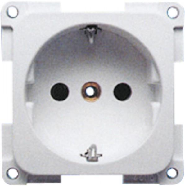 Schuko pistorasia runko-osa 1-osinen, hopea - 12 V pistotulpat japistorasit - 9974011 - 2