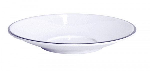 Untertasse für Henkelbecher Linea Blue weiß/blau