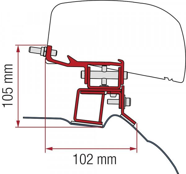 Adapter 2-tlg. Mercedes V Class ab 2014 für F40van
