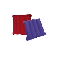 Sitzkissen aufblasbar, blau/rot