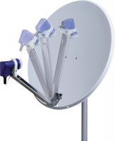 Satelliten-Antenne mit klappbarem LNB-Arm