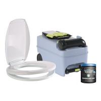 Renew Kit bestehend aus Toilettensitz, Spülringabdeckung, Fäkalientank und Sanitärzusatz
