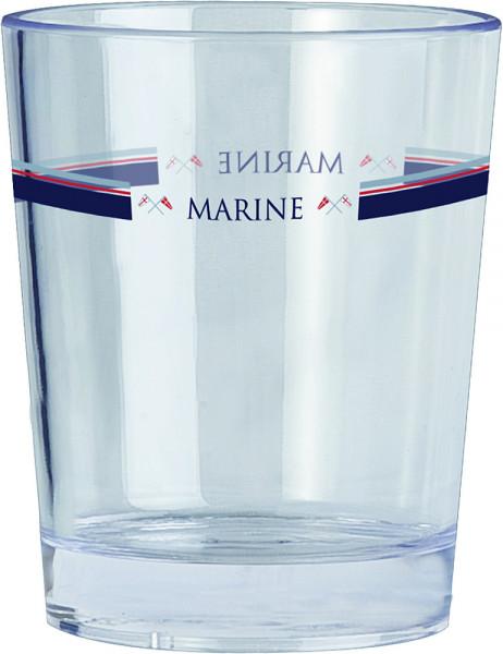 Glas Marine blau/weiß 300 ml