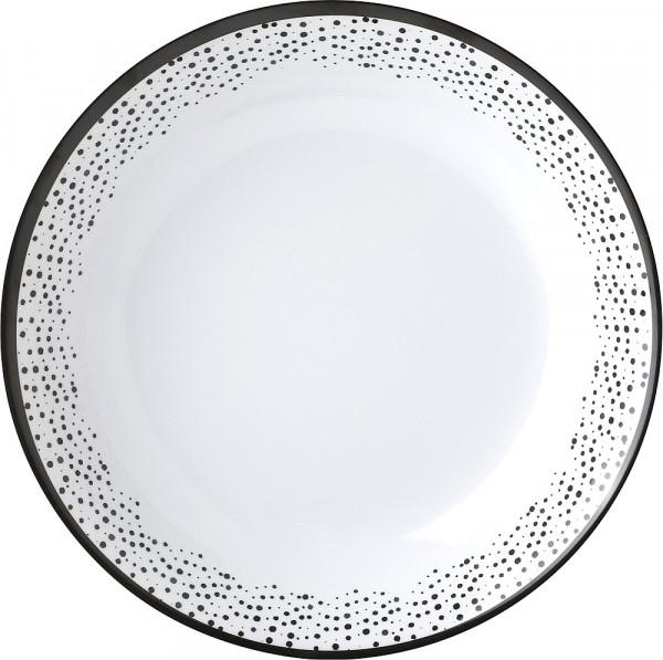 Suppenteller Pralin weiß/schwarz
