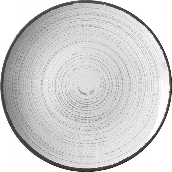 Essteller Tivoli weiß/schwarz