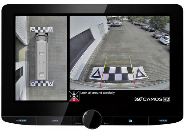 Rückfahrvideosystem 360°, DMX9720XDS, HD mit Kenwood, Fb. schwarz