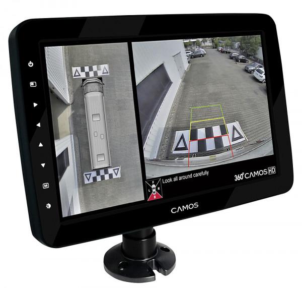 Rückfahrvideosystem 360° CM-1002T, HD mit 10,1 Zoll-Monitor, Fb. schwarz