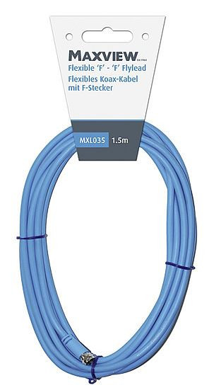 Flexibles Koax-Kabel mit F-Stecker