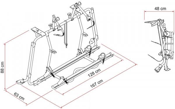 Fahrradträger Carry Bike VW silber für T5 Pro