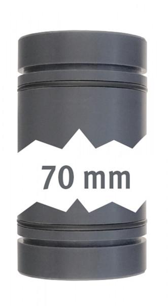 Rohr 40 mm beid. mit O-Ring 70 mm