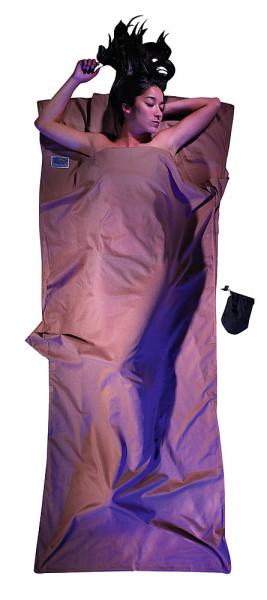 Leicht-Reiseschlafsack 220 x 90 cm khaki ägyptische Baumwolle