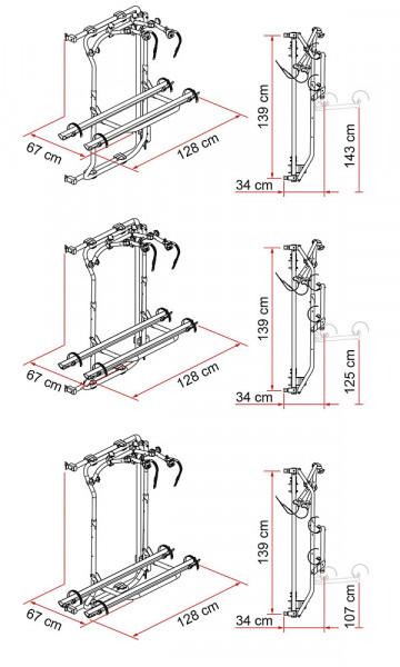 Fahrradträger Carry Bike Frame VW Crafter ab 2018, E-Bike 2 Räder