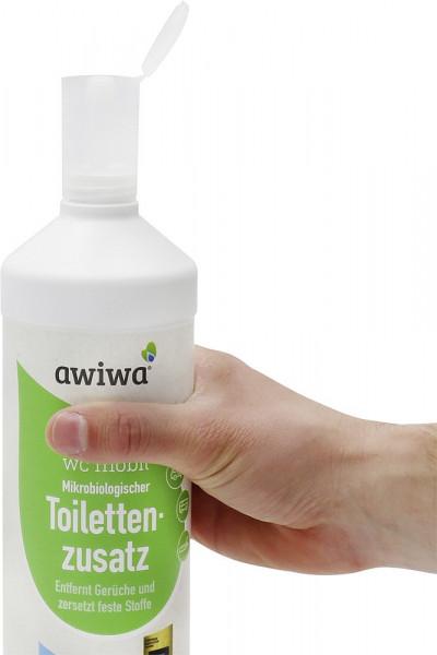 Dosierhilfe für 1 l Rundflaschen