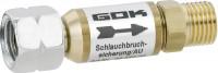 Schlauchbruchsicherung G 1/4 LH-ÜM x G 1/4 LH-KN