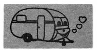 Fußabstreifer  Caravan grau