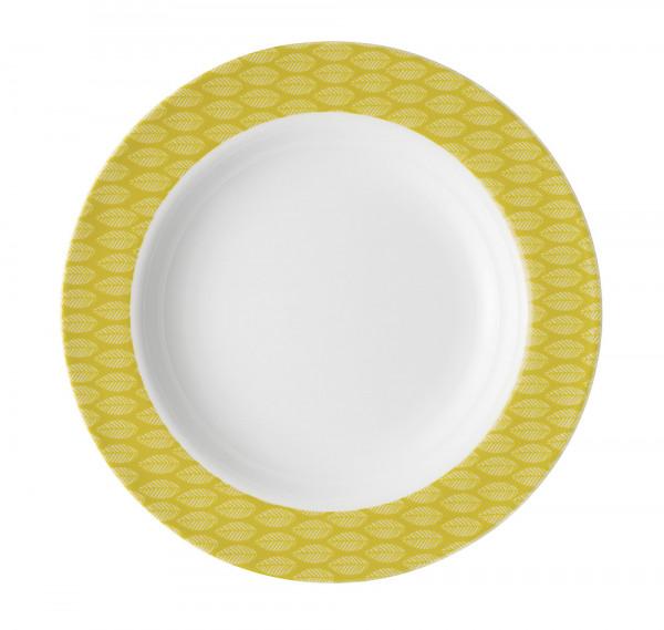 Suppenteller Retro gelb/ocker