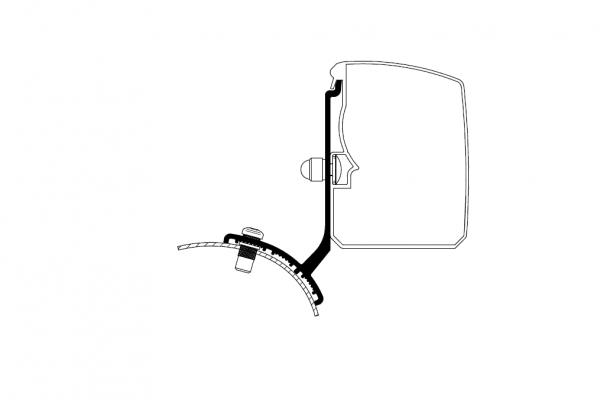 Adapter zu Wandmarkise Omnistor 3200 Trafic/Vivaro/Talento/NV300 Minivan Fixed