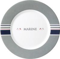 Dessertteller Marine Durchm. 21 cm grau/weiß