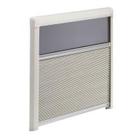 Fensterrollo DB3H plissiert, cremeweiß