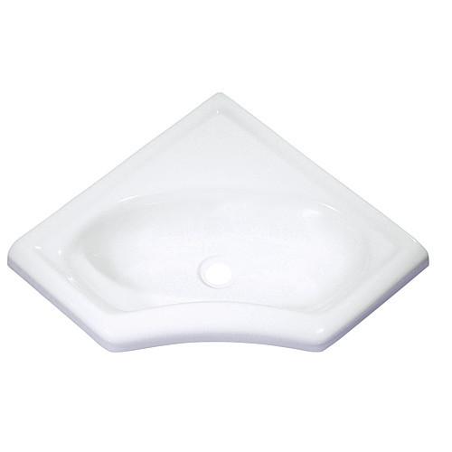 Eckwaschbecken mini, reinweiß