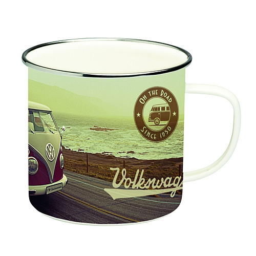 Becher Emaille VW T1 Bus Highway 1,5 l