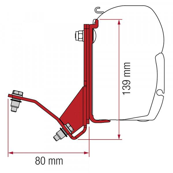 Adapter Fiat Ducato Hymercar zu Wandmarkise F45