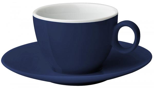 Espressotasse mit Untertasse dunkelblau 100 ml