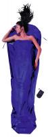 Leicht-Mumienschlafsack 241 x 90/56 cm ultramarine blue Seide