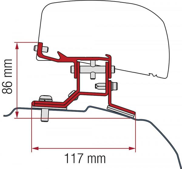 Adapter 2-tlg. Ford Custom L1 ab 2012 für F40van Rechtslenker
